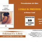 """Edizioni Ex Libris presenta il romanzo di Renzo Conti """"I figli in prestito"""""""
